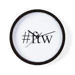 #ftw Wall Clock