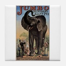 Vintage Circus Elephant Tile Coaster