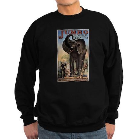 Vintage Circus Elephant Sweatshirt (dark)