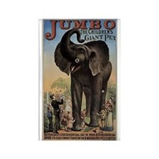 Vintage Circus Elephant Rectangle Magnet