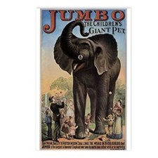 Vintage Circus Elephant Postcards (Package of 8)