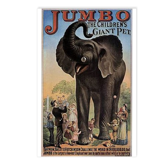 Vintage Circus Elephant Postcards (Package of 8) by ...