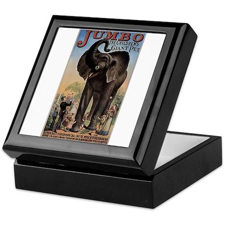 Vintage Circus Elephant Keepsake Box