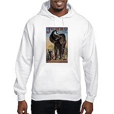 Vintage Circus Elephant Hoodie
