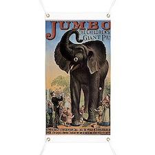 Vintage Circus Elephant Banner