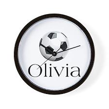 Olivia Soccer Wall Clock