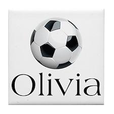 Olivia Soccer Tile Coaster