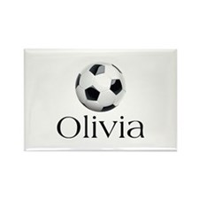 Olivia Soccer Rectangle Magnet