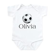 Olivia Soccer Infant Bodysuit