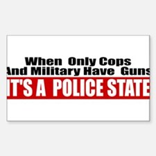 Police State Decal