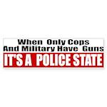 Police State Sticker (Bumper 50 pk)