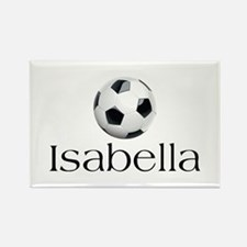 Isabella Soccer Rectangle Magnet