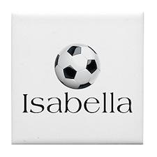 Isabella Soccer Tile Coaster