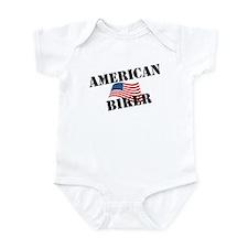 Cute American biker Infant Bodysuit