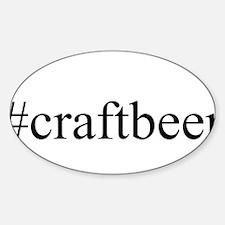 #craftbeer Sticker (Oval)