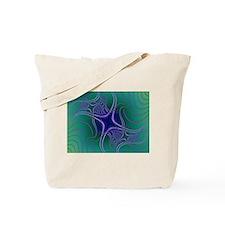 Dancing Stars Fractal Tote Bag