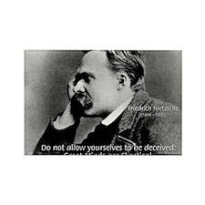 Friedrich Nietzsche Skeptical Rectangle Magnet