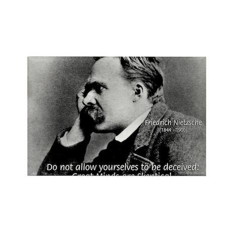 Friedrich Nietzsche Skeptical Rectangle Magnet (10