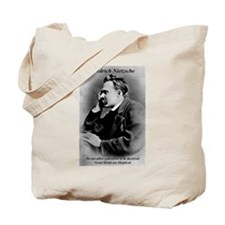 Friedrich Nietzsche Skeptical Tote Bag