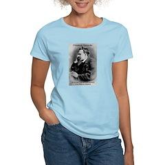 Friedrich Nietzsche Skeptical Women's Pink T-Shirt