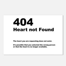 404 - not found Postcards (Package of 8)