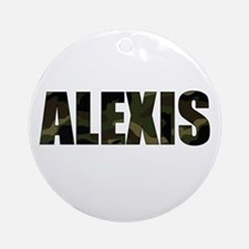 camo Alexis Ornament (Round)