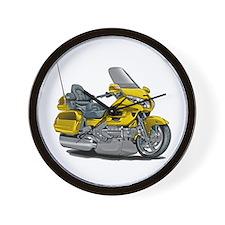 Goldwing Yellow Bike Wall Clock
