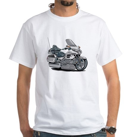 Goldwing White Bike White T-Shirt