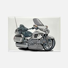 Goldwing White Bike Rectangle Magnet