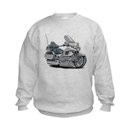 Goldwing Silver Bike Kids Sweatshirt
