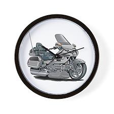 Goldwing Silver Bike Wall Clock