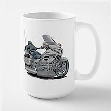 Goldwing Silver Bike Large Mug