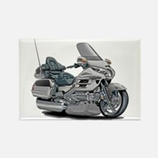 Goldwing Silver Bike Rectangle Magnet