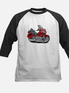 Goldwing Red Bike Kids Baseball Jersey