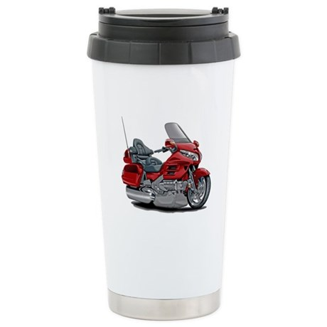 Goldwing Red Bike Stainless Steel Travel Mug