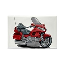 Goldwing Red Bike Rectangle Magnet