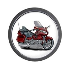 Goldwing Maroon Bike Wall Clock