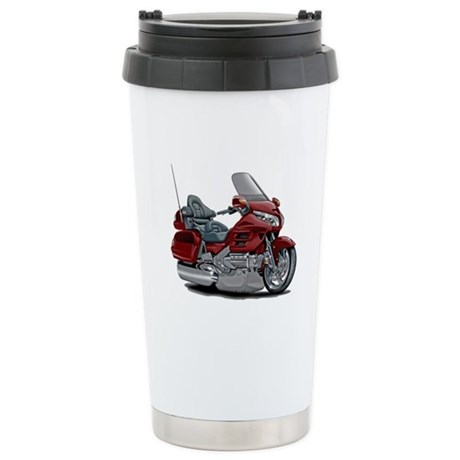 Goldwing Maroon Bike Stainless Steel Travel Mug