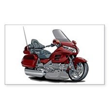 Goldwing Maroon Bike Decal