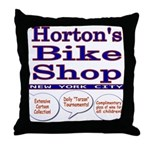 Horton's Bike Shop Throw Pillow