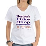 Horton's Bike Shop Women's V-Neck T-Shirt