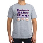 Horton's Bike Shop Men's Fitted T-Shirt (dark)