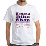 Horton's Bike Shop White T-Shirt