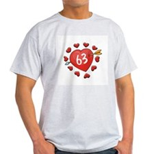 63rd Valentine Ash Grey T-Shirt