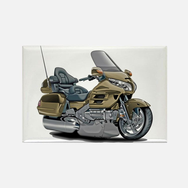 Goldwing Champagne Bike Rectangle Magnet