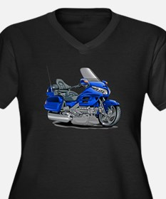 Goldwing Blue Bike Women's Plus Size V-Neck Dark T