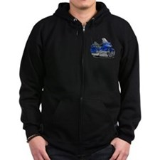 Goldwing Blue Bike Zip Hoodie