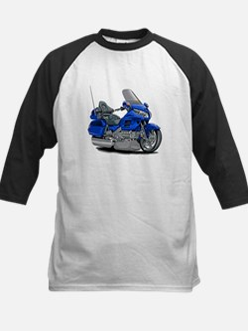 Goldwing Blue Bike Kids Baseball Jersey