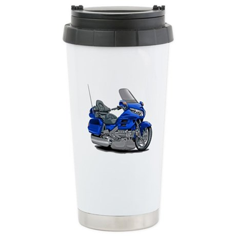 Goldwing Blue Bike Stainless Steel Travel Mug