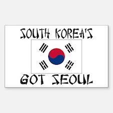 South Korea's Got Seoul! Sticker (Rectangle)